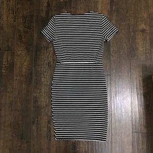 Zara Dresses - Zara Trafaluc Striped Asymmetric Bodycon Dress